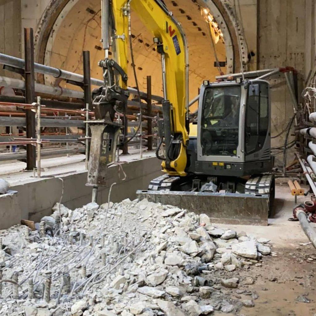 Chantier tunnel Grand-Paris