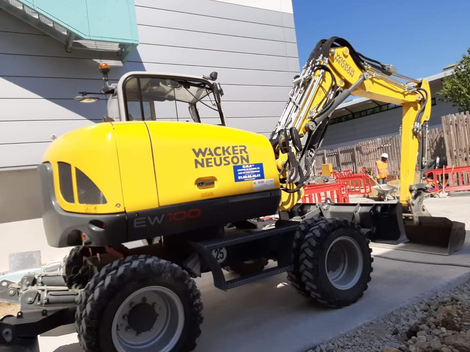 Pelle 10 tonnes à pneus - Wacker