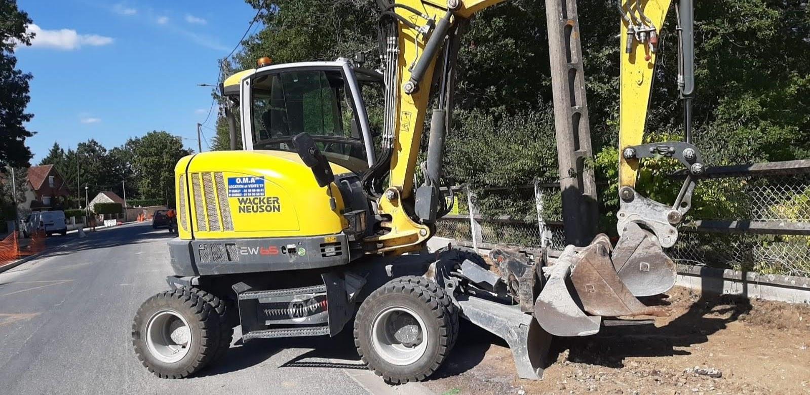 Pelle 6 tonnes à pneus - Wacker